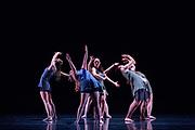 Santa Clara University Department of Theatre & Dance students perform Choreographers' Gallery during a dress rehearsal at Santa Clara University in Santa Clara, California, on November 29, 2017. (Stan Olszewski/SOSKIphoto)