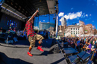 Pries performs at the 420 Cannabis Culture Music Festival, Civic Center Park, Downtown Denver, Colorado USA. This was the first 4/20 celebration since recreational pot became legal in Colorado January 1, 2014. A crowd of up to 80,000 people attended the event.