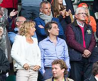 DEN HAAG - Marc Benninga met echtgenote Ingrid Wolff. WORLD CUP Hockey 2014.  COPYRIGHT  KOEN SUYK
