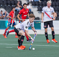 AMSTELVEEN -  Matthew Dawson (Amsterdam)  tijdens de hockey hoofdklasse competitiewedstrijd  heren, Amsterdam-HC Tilburg (3-0).  COPYRIGHT KOEN SUYK