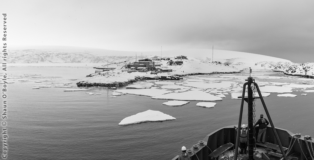 Approaching Palmer Station after a 4 day crossing of the Drake Passage. This photo essay of Palmer Station was photographed over 6 days in late October, 2017, as part of the National Science Foundation's Antarctic Artist and Writers program.