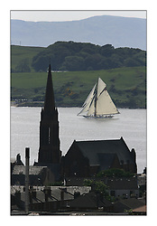 Fife boat  MARIQUITA.{96' 1911 C1} arrives and practicing in the Largs channel ahead of the third Fife Regattta held on the Clyde,..* The Fife Yachts are one of the world's most prestigious group of Classic .yachts and this will be the third private regatta following the success of the 98, .and 03 events.  .A pilgrimage to their birthplace of these historic yachts, the 'Stradivarius' of .sail, from Scotland's pre-eminent yacht designer and builder, William Fife III, .on the Clyde 20th -27th June.   . ..More information is available on the website: www.fiferegatta.com . .Press office contact: 01475 689100         Lynda Melvin or Paul Jeffes