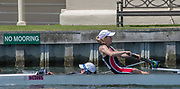 Henley. Berks, United Kingdom. <br /> <br /> J4+ St. Paul's School, Concord, NH. USA , during their heat at the 2017 Henley' Women's Regatta. Rowing on, Henley Reach. River Thames. <br /> <br /> <br /> Saturday  17/06/2017<br /> <br /> <br /> [Mandatory Credit Peter SPURRIER/Intersport Images]