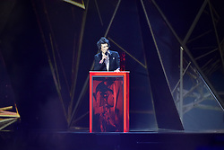 EDITORIAL USE ONLY.<br /><br />Ronnie Wood on stage at the Brit Awards at the O2 Arena, London.