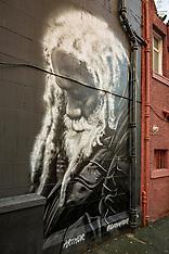 Arthur William Mural, Edinburgh, 11 December 2020