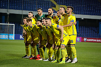 PODGORICA, MONTENEGRO - JUNE 07: Kosovo lineup before the 2020 UEFA European Championships group A qualifying match between Montenegro and Kosovo at Podgorica City Stadium on June 7, 2019 in Podgorica, Montenegro MB Media