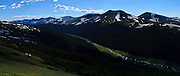 USA, Colorado, Rocky Mountain National Park, the Cache La Poudre River Valley, digital composite, panorama
