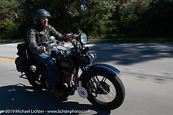 Australian (and Great Race organizer) Dave Reide riding his 1928 Harley-Davidson model J in the Motorcycle Cannonball coast to coast vintage run. Stage 5 (229 miles) from Bowling Green, OH to Bourbonnais, IL. Wednesday September 12, 2018. Photography ©2018 Michael Lichter.