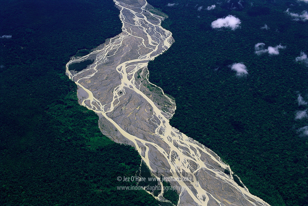 Baliem river in the southern lowlands, Yahukimo, Papua, Indonesia.