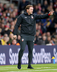 Southampton manager Ralph Hasenhuttl gestures on the touchline during the Premier League match at St Mary's Stadium, Southampton.