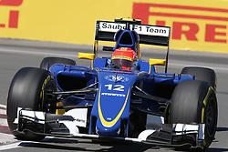 06.06.2015, Circuit Gilles Villeneuve, Montreal, CAN, FIA, Formel 1, Grand Prix von Kanada, Qualifying, im Bild Felipe Nasr (BRA) Sauber C34 // during Qualifyings of the Canadian Formula One Grand Prix at the Circuit Gilles Villeneuve in Montreal, Canada on 2015/06/06. EXPA Pictures © 2015, PhotoCredit: EXPA/ Sutton Images/ Mirko Stange<br /> <br /> *****ATTENTION - for AUT, SLO, CRO, SRB, BIH, MAZ only*****