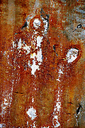 abstract red rust