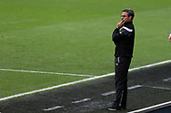 David Wagner, the manager of Huddersfield Town looks on from the touchline.  Premier league match, Swansea city v Huddersfield Town at the Liberty Stadium in Swansea, South Wales on Saturday 14th October 2017.<br /> pic by  Andrew Orchard, Andrew Orchard sports photography.