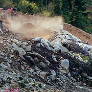 Rex Flake rides the single track trails on Steven's Pass Resort near Leavenworth, Washington.