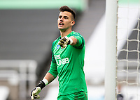 Newcastle United's Karl Darlow gestures <br /> <br /> Photographer Alex Dodd/CameraSport<br /> <br /> FA Cup Quarter-Final - Newcastle United v Manchester City - Sunday 28th June 2020 - St James' Park - Newcastle<br />  <br /> World Copyright © 2020 CameraSport. All rights reserved. 43 Linden Ave. Countesthorpe. Leicester. England. LE8 5PG - Tel: +44 (0) 116 277 4147 - admin@camerasport.com - www.camerasport.com