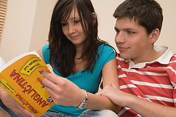 Czech couple learning English together,