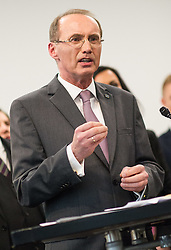 14.03.2014, OeVP Bundespartei, Wien, AUT, OeVP, Presskonferenz nach Vorstandssitzung der OeVP Bundespartei. im Bild OeVP Spitzenkandidat fuer die EU-Wahl Othmar Karas // OeVP Topcandidate for EU election Othmar Karas during press conference after board meeting of OeVP at federal party of OeVP in Vienna, Austria on 2014/03/14. EXPA Pictures © 2014, PhotoCredit: EXPA/ Michael Gruber