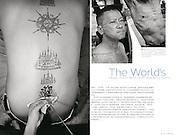 Thai Tattoo / China Magazine : <br /> China Travel Magazine Tearsheet - Jean-Michel Clajot - Photojournalist