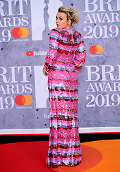 Tallia Storm attending the Brit Awards 2019 at the O2 Arena, London.