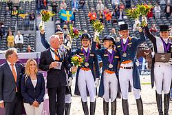 Team Netherlands, Gal Edward, Minderhoud Hans Peter, Scholtens Emmelie, Meulendijks Anne<br /> European Championship Dressage<br /> Rotterdam 2019<br /> © Hippo Foto - Stefan Lafrentz