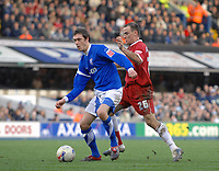 Photo: Ashley Pickering.<br />Ipswich Town v Southend United. Coca Cola Championship. 10/03/2007.<br />George O'Callaghan of Ipswich (L) and Alan McCormack of Southend