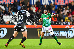 Ian McKinley of Benetton Treviso in action during todays match<br /> <br /> Photographer Craig Thomas/Replay Images<br /> <br /> Guinness PRO14 Round 4 - Ospreys v Benetton Treviso - Saturday 22nd September 2018 - Liberty Stadium - Swansea<br /> <br /> World Copyright © Replay Images . All rights reserved. info@replayimages.co.uk - http://replayimages.co.uk