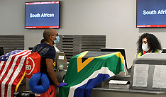 South African Nationals Boarding A Special Charter Flight - 15 April 2020