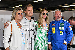 Sina Rosberg, Nico Rosberg, Vivian Sibold, Keke Rosberg attending Monaco Grand Prix on May 24, 2018, where Keke Rosberg and his son Nico Rosberg make a 2 laps of the track with their F1 cars. Photo by Marco Piovanotto/ABACAPRESS.COM