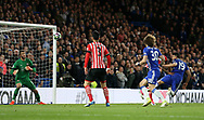 Chelsea's Diego Costa scoring his sides third goal during the Premier League match at Stamford Bridge Stadium, London. Picture date: April 25th, 2017. Pic credit should read: David Klein/Sportimage