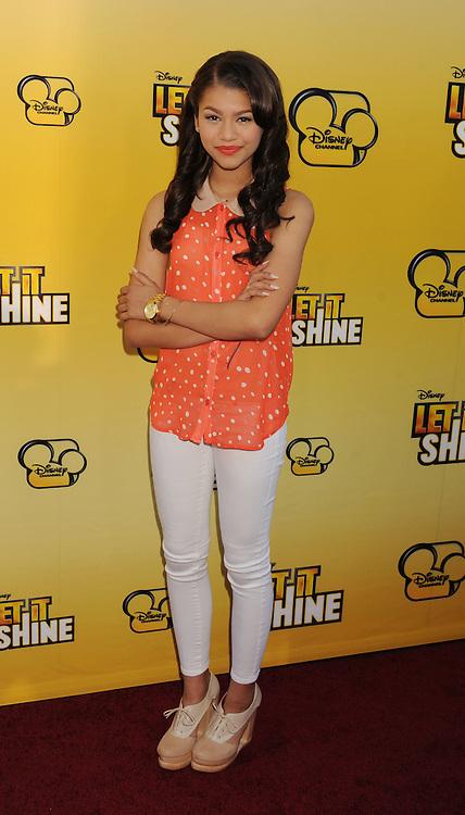LOS ANGELES, CA - JUNE 05: Zendaya attends Disney's 'Let It Shine' Premiere held at The Directors Guild Of America on June 5, 2012 in Los Angeles, California.