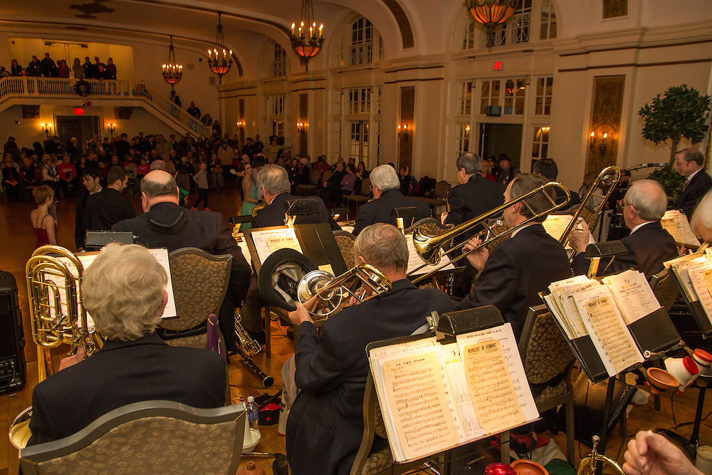 Akron Big Band performs at First Night Akron 2015 in Greystone Hall