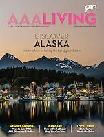 September/October 2016 cover of AAA Living Magazine of Sitka, Alaska by Blaine Harrington III.