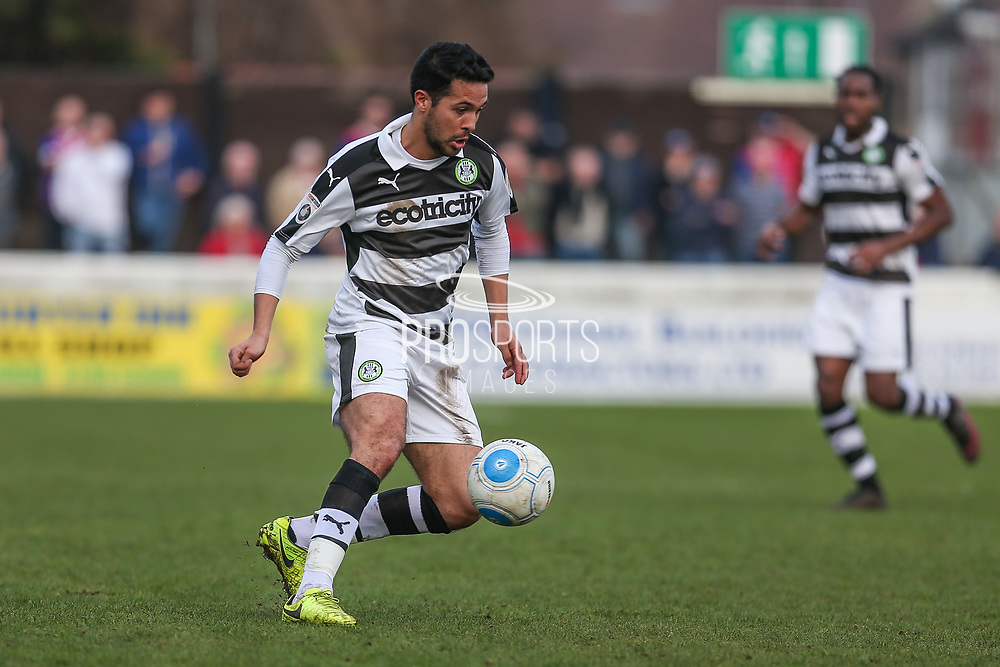 Forest Green Rovers Fabien Robert(26) on the ball during the Vanarama National League match between Dagenham and Redbridge and Forest Green Rovers at the London Borough of Barking and Dagenham Stadium, London, England on 11 March 2017. Photo by Shane Healey.