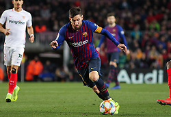 January 30, 2019 - Barcelona, BARCELONA, Spain - Messi of Barcelona in action during Spanish King championship, football match between Barcelona and Sevilla, January  30th, in Camp Nou Stadium in Barcelona, Spain. (Credit Image: © AFP7 via ZUMA Wire)