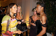 Lisa Anson, Sarah Bosnage,Lisa Loud and Tonic, British Luxury Club, Celebration, the Orangery, Kensington Palace. 16 September 2004. SUPPLIED FOR ONE-TIME USE ONLY-DO NOT ARCHIVE. © Copyright Photograph by Dafydd Jones 66 Stockwell Park Rd. London SW9 0DA Tel 020 7733 0108 www.dafjones.com