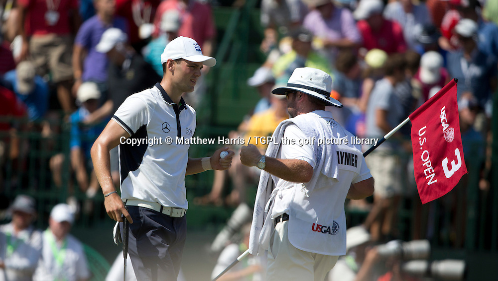 Martin KAYMER (GER) makes birdie at 3rd during fourth round US Open Championship 2014,Pinehurst No 2,Pinehurst,North Carolina,USA.