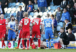 Peterborough United's Marcus Maddison (30) is shown a straight red card for a tackle on Leyton Orient's Luke O'Neill - Photo mandatory by-line: Joe Dent/JMP - Mobile: 07966 386802 - 07/03/2015 - SPORT - Football - Peterborough - ABAX Stadium - Peterborough United v Leyton Orient - Sky Bet League One