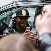 NLD/Amsterdam/20131109 - Arrival of rapper Dizzee Rascal at the hotel for the MTV EMA 2013