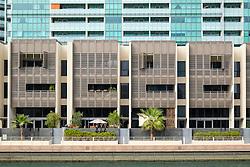 Modern residential property development at Al Muneera at Al Raha in Abu Dhabi United Arab Emirates