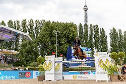 STAUT Kevin (FRA), Lorenzo<br /> Berlin - Global Jumping Berlin 2018<br /> CSI5* Preis der Deutsche Vermögensberatung<br /> 1. Wertung für Global Champions League<br /> 27. Juli 2018<br /> © www.sportfotos-lafrentz.de/Stefan Lafrentz
