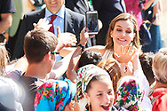 Queen Letizia of Spain visited to the Monastery of Santo Toribio de Liebana on the occasion of the Jubilee Year Lebaniego on July 19, 2017 in Camaleno, Cantabria, Spain