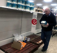 Tescos Stratford upon Avon panic-buying continues  as people worried  about the coronavirus  buy everything they can  March 16, 2020,photo by mark anton smith