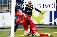Fotball , 16. oktober 2011 , Adeccoligaen , 1. divisjon<br /> Sandefjord - Sandnes Ulf 1-1<br /> <br /> <br /> Kamal Saaliti , Ulf jubler bak Iven Austbø , Sandefjord