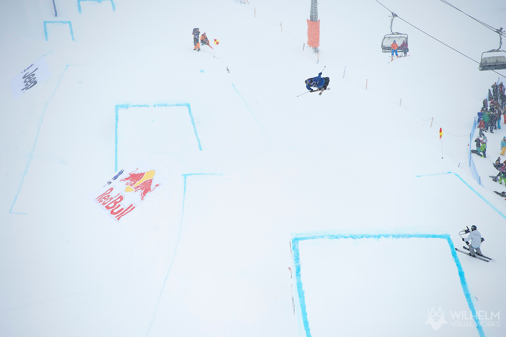 Matt Walker during Men's Ski Slopestyle Eliminations at the 2013 X Games Tignes in Tignes, France. ©Brett Wilhelm/ESPN
