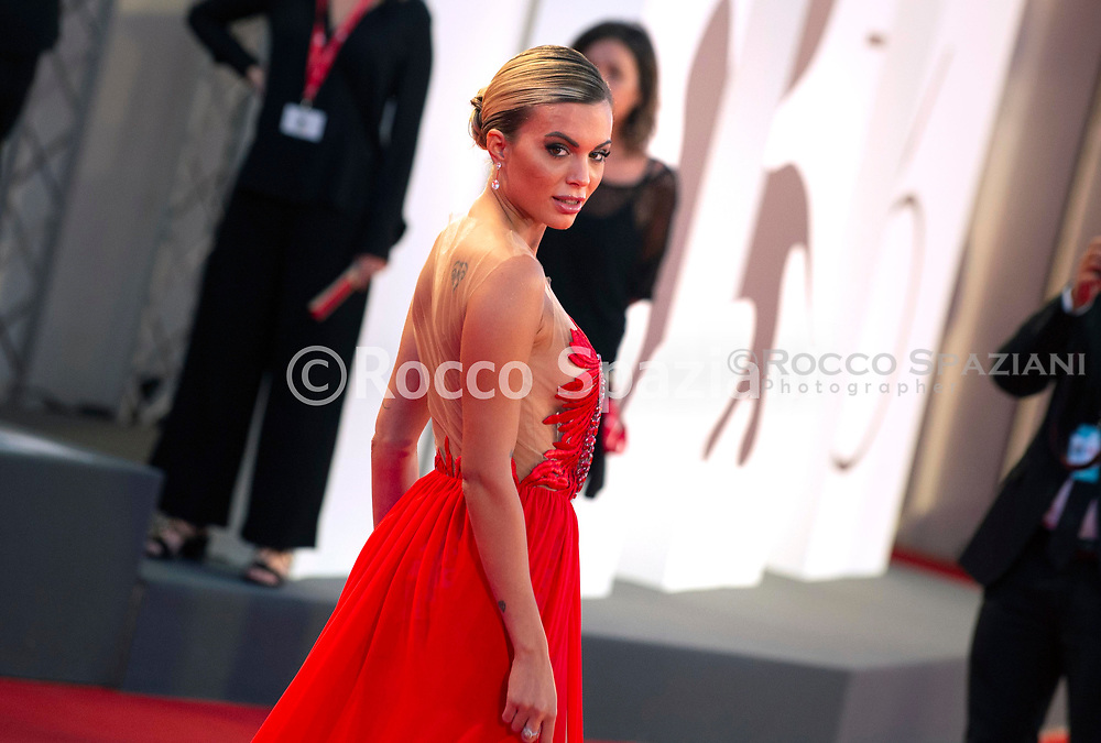 """ENICE, ITALY - SEPTEMBER 03: Ludovica Pagani walks the red carpet ahead of the """"Om Det Oandliga"""" (About Endlessness) screening during the 76th Venice Film Festival at Sala Grande on September 03, 2019 in Venice, Italy."""