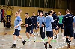 Miha Zvizej at Open training session for the public of Slovenian handball National Men team before European Championships Austria 2010, on December 27, 2009, in Terme Olimia, Podcetrtek, Slovenia.  (Photo by Vid Ponikvar / Sportida)