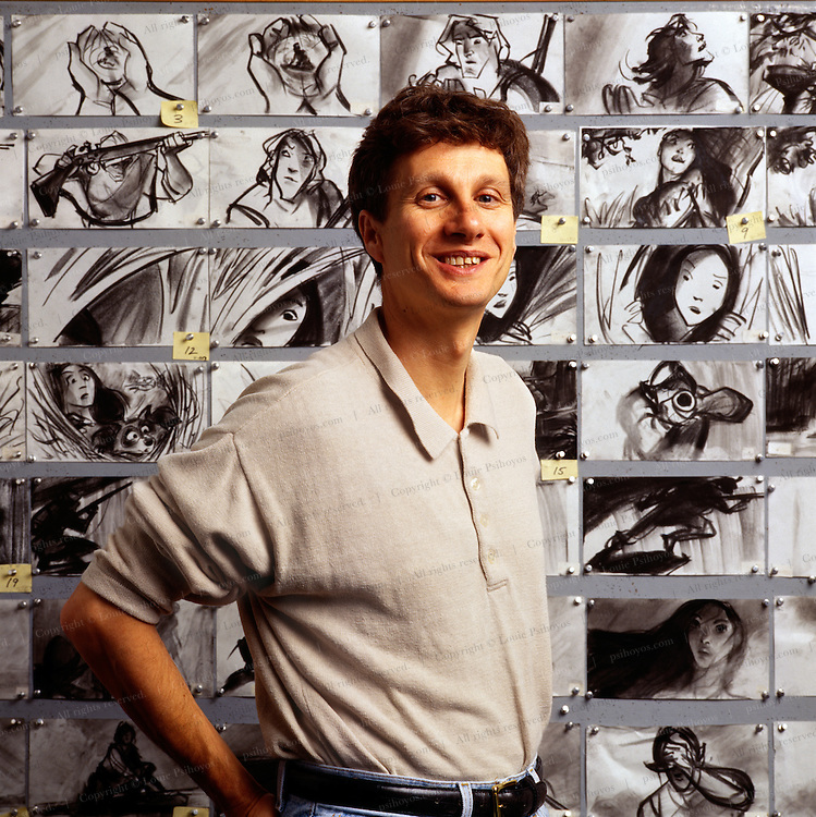 Schneider became chairman of The Walt Disney Studios.  Pictured here as an animator.