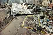The site where a person was found on Friday, Nov. 16, 2018, in Paradise, Calif. The area was devastated by the Camp Fire.