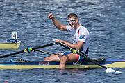 Sarasota. Florida USA. Men's Single Sculls. Gold Medalist, CZE M1X. Ondrej SYNEK, Sunday Final's Day at the  2017 World Rowing Championships, Nathan Benderson Park<br /> <br /> Sunday  01.10.17   <br /> <br /> [Mandatory Credit. Peter SPURRIER/Intersport Images].<br /> <br /> <br /> NIKON CORPORATION -  NIKON D4S  lens  VR 500mm f/4G IF-ED mm. 200 ISO 1/640/sec. f 8