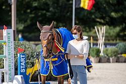 Prijsuitreiking, Leemans Eveline, Jeunesse<br /> Belgisch Kampioenschap Jumping  <br /> Lanaken 2020<br /> © Hippo Foto - Dirk Caremans<br /> <br />  05/09/2020
